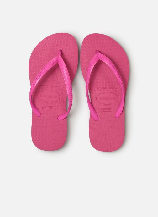 Tongs Havaianas Kids Slim Rose vue portées chaussures