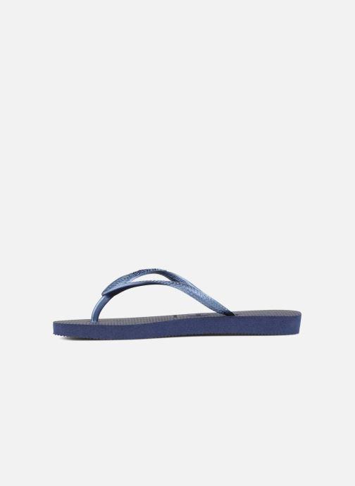 Flip flops Havaianas Kids Slim Blue front view