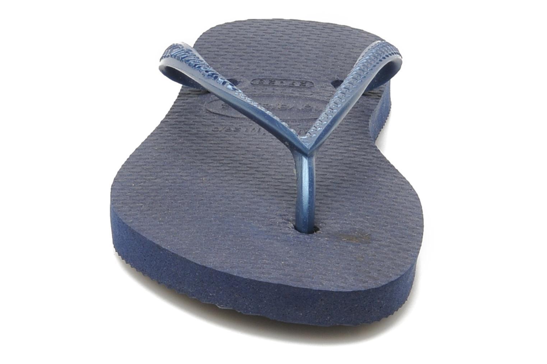 Tongs Havaianas Kids Slim Bleu vue portées chaussures