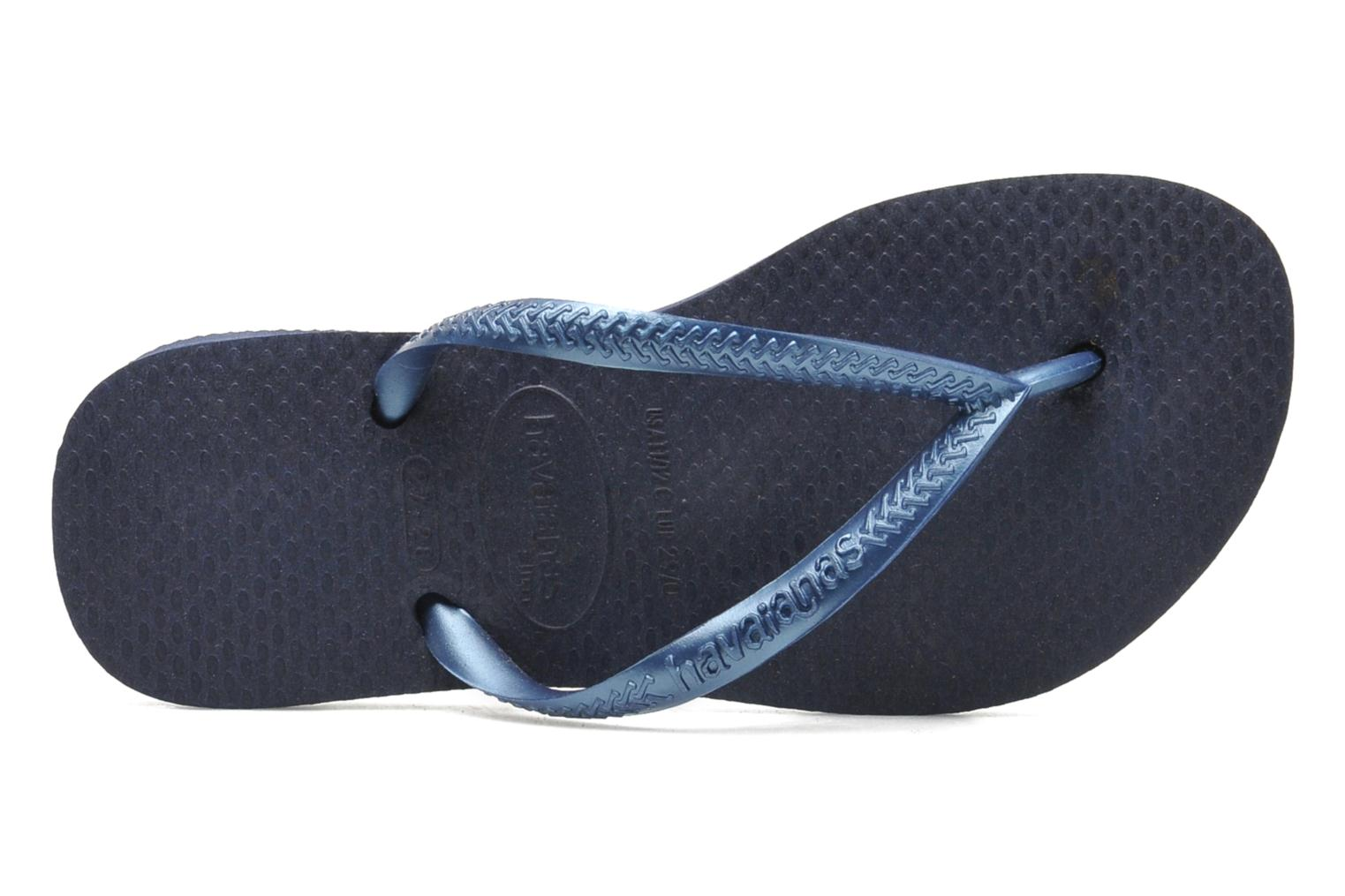Flip flops Havaianas Kids Slim Blue view from the left