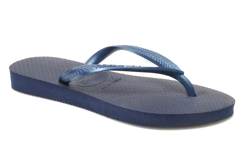 Flip flops & klipklapper Havaianas Kids Slim Blå detaljeret billede af skoene