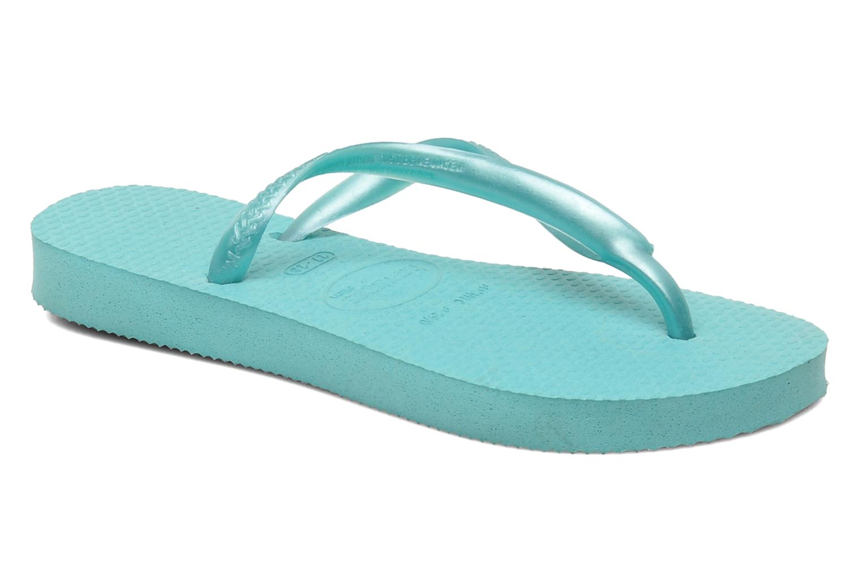 Flip flops Havaianas Kids Slim Blue detailed view/ Pair view