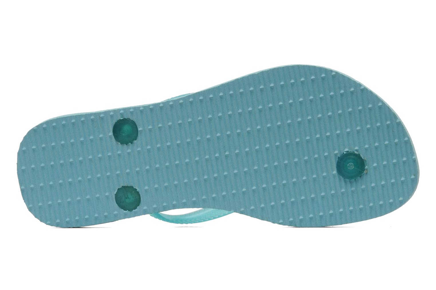 Flip flops Havaianas Kids Slim Blue view from above