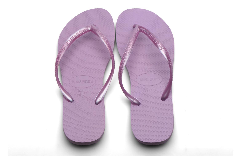 Tongs Havaianas Kids Slim Violet vue portées chaussures
