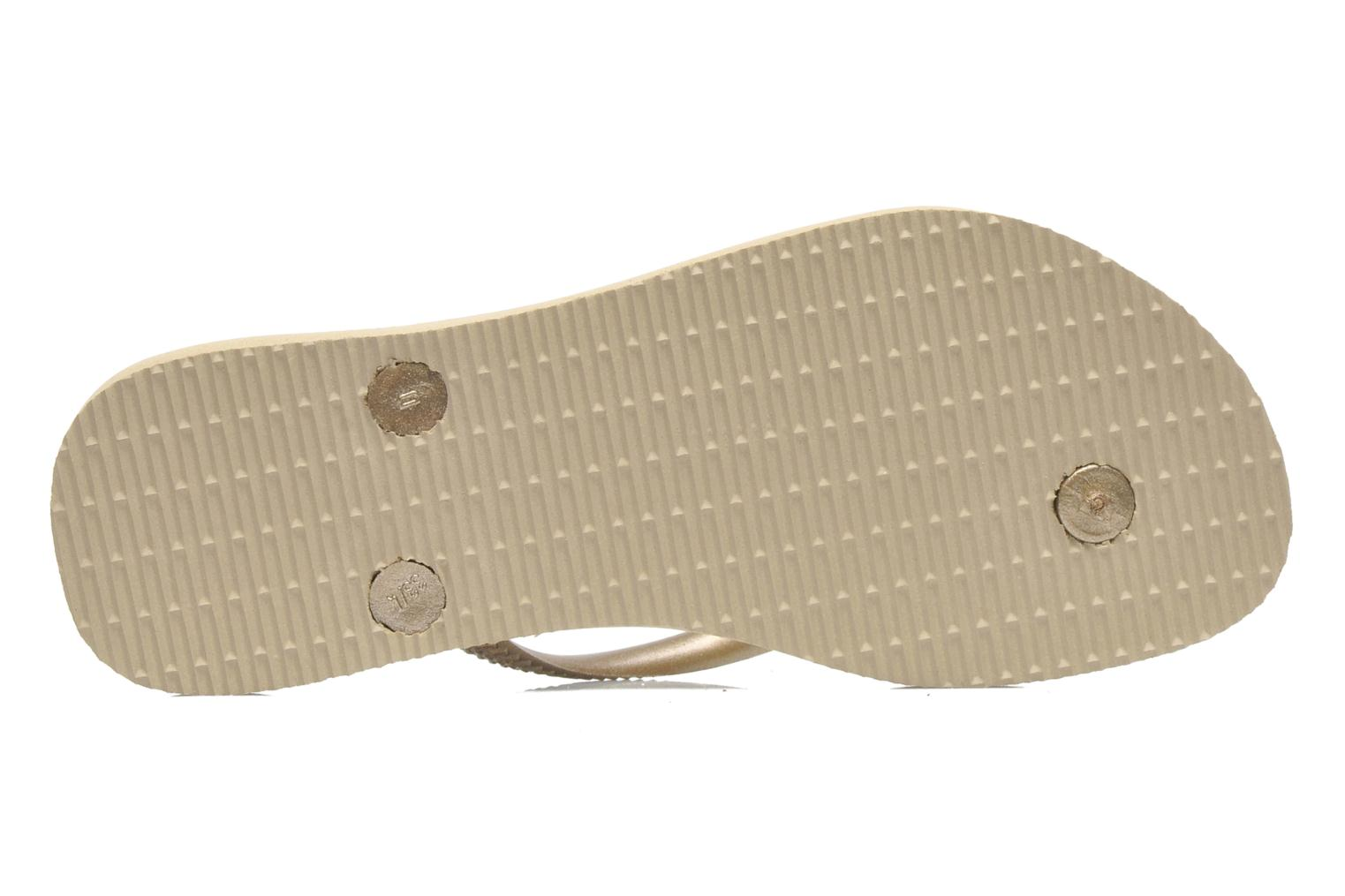 Flip flops Havaianas Kids Slim Bronze and Gold view from above