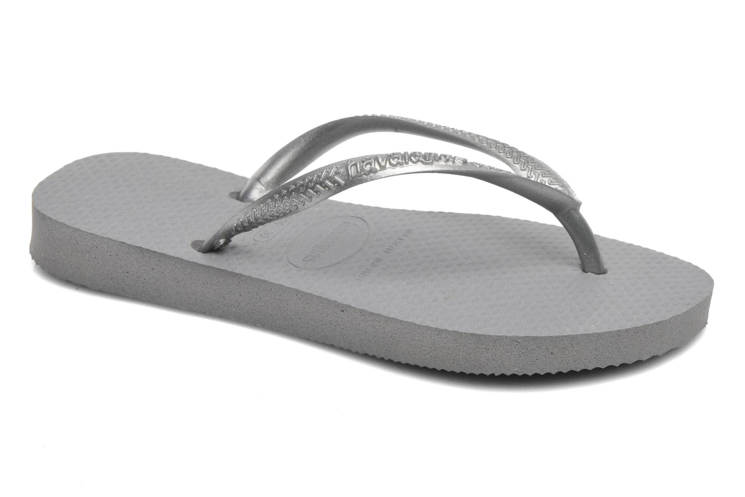 Tongs Havaianas Kids Slim Gris vue détail/paire