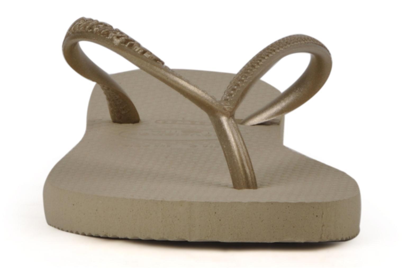 Tongs Havaianas Kids Slim Or et bronze vue portées chaussures