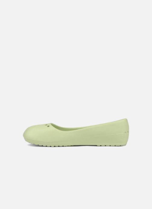 Ballet pumps Crocs Prima Green front view