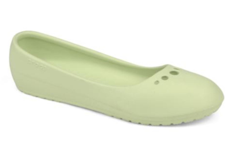 Ballerines Crocs Prima Vert vue détail/paire