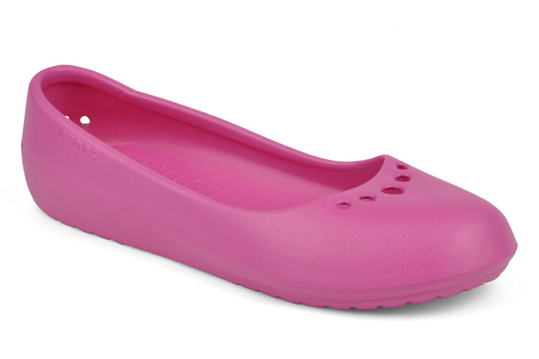 Ballerines Crocs Prima Rose vue détail/paire