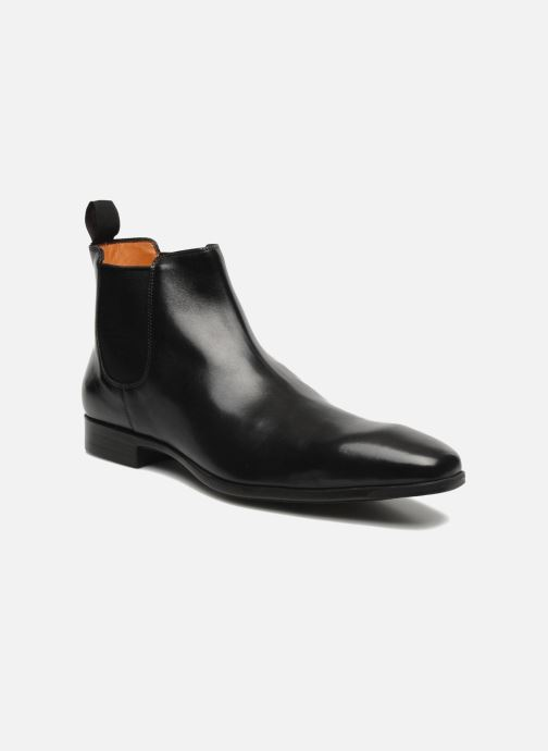 Ankle boots Santoni Marlone 9291 Black detailed view/ Pair view
