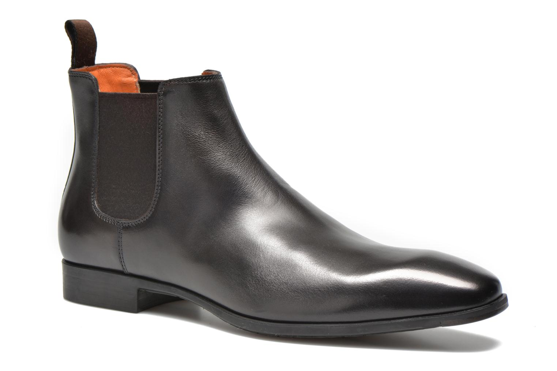 Ankelstøvler Santoni Marlone 9291 Brun detaljeret billede af skoene