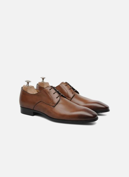 Zapatos con cordones Santoni Marlone 9290 Marrón vista 3/4