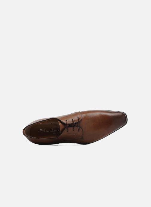 Chaussures à lacets Santoni Marlone 9290 Marron vue gauche