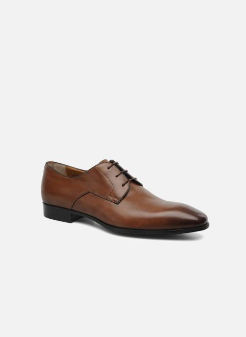 Lace-up shoes Santoni Marlone 9290 Brown detailed view/ Pair view
