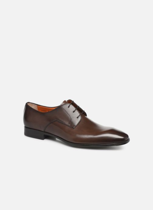Chaussures à lacets Santoni Marlone 9290 Marron vue détail/paire