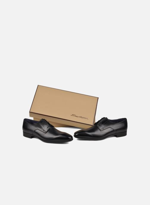 Lace-up shoes Santoni Marlone 9290 Black view from underneath / model view