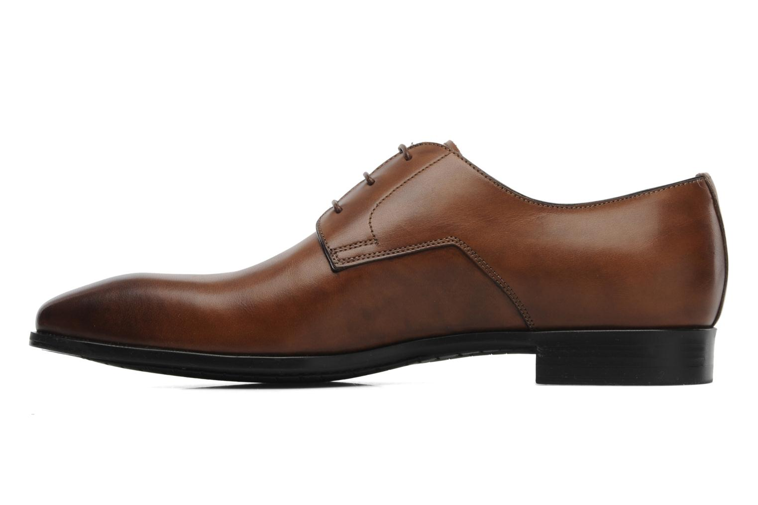 Lace-up shoes Santoni Marlone 9290 Brown front view