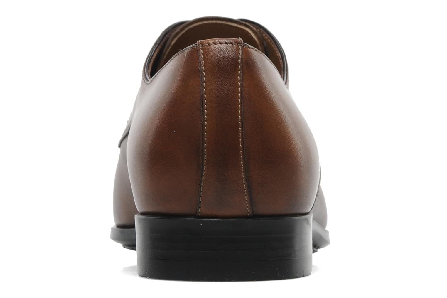 Lace-up shoes Santoni Marlone 9290 Brown view from the right