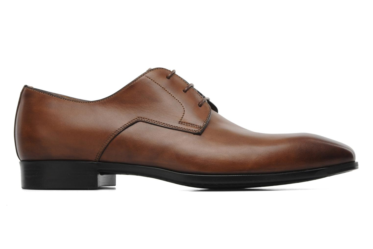 Lace-up shoes Santoni Marlone 9290 Brown back view