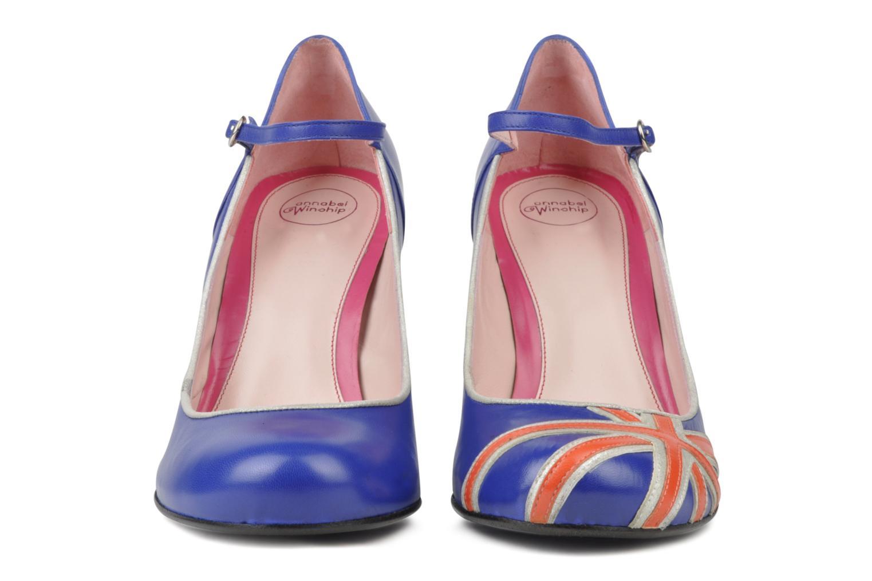 High heels Annabel Winship Expistol Blue model view