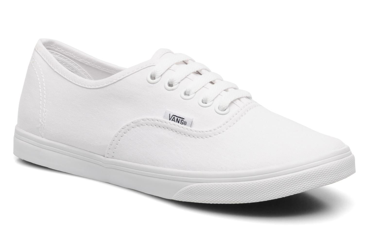 Baskets Vans Authentic Lo Pro W Blanc vue détail/paire