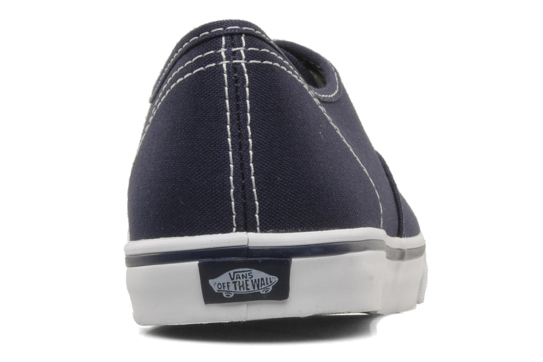 Baskets Vans Authentic Lo Pro W Bleu vue droite