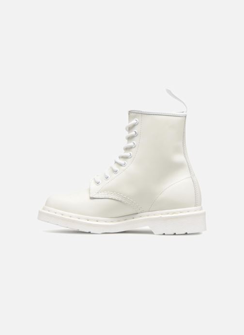 Bottines et boots Dr. Martens 1460 W Blanc vue face