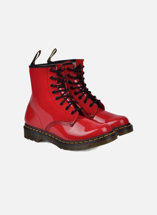 Bottines et boots Dr. Martens 1460 W Rouge vue 3/4