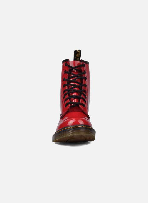 Bottines et boots Dr. Martens 1460 W Rouge vue portées chaussures
