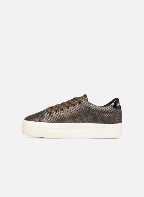 Baskets No Name Plato Sneaker Or et bronze vue face