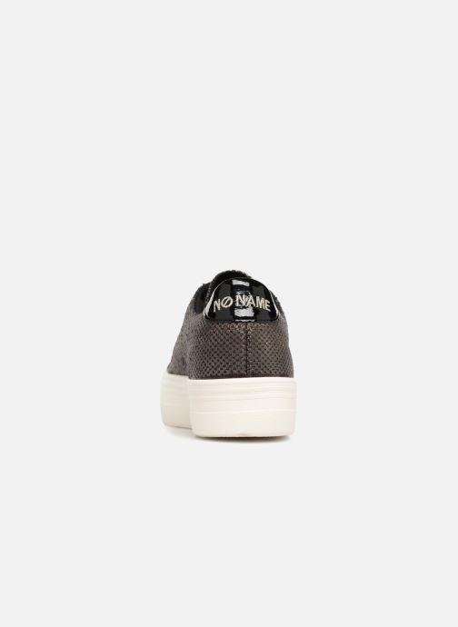 Baskets No Name Plato Sneaker Or et bronze vue droite