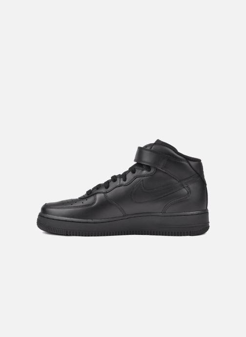 Sneaker Nike Air Force 1 Mid schwarz ansicht von vorne