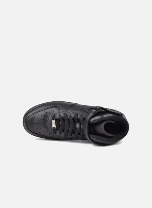 Sneaker Nike Air Force 1 Mid schwarz ansicht von links
