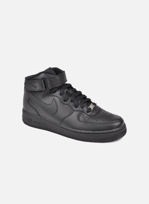 Baskets Nike Air Force 1 Mid Noir vue détail/paire
