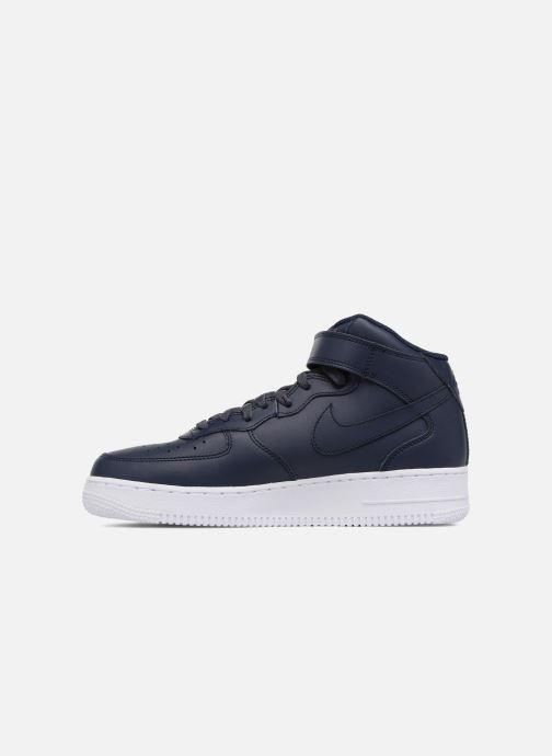 Baskets Nike Air Force 1 Mid Bleu vue face