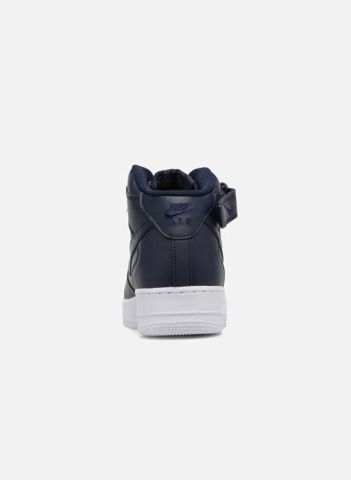 Baskets Nike Air Force 1 Mid Bleu vue droite