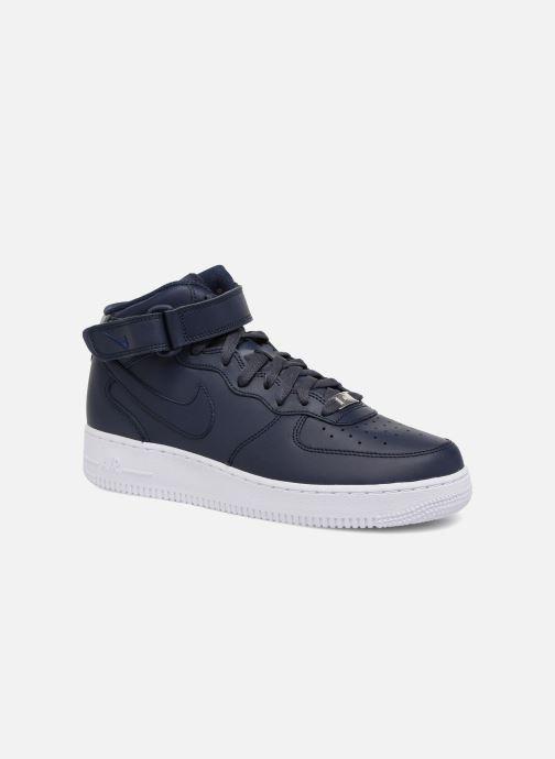 Baskets Nike Air Force 1 Mid Bleu vue détail/paire