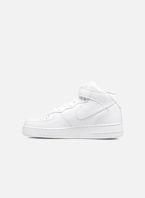 Sneaker Nike Air Force 1 Mid weiß ansicht von vorne