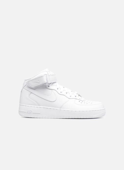 Sneaker Nike Air Force 1 Mid weiß ansicht von hinten