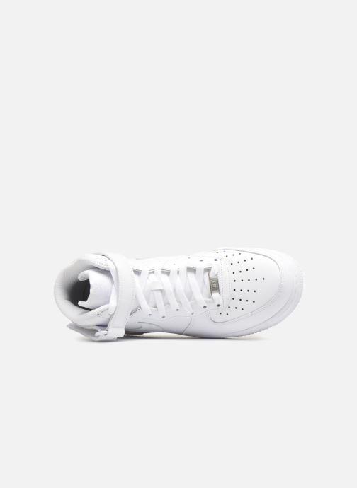 Baskets Nike Air Force 1 Mid Blanc vue gauche