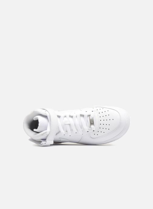 Sneaker Nike Air Force 1 Mid weiß ansicht von links