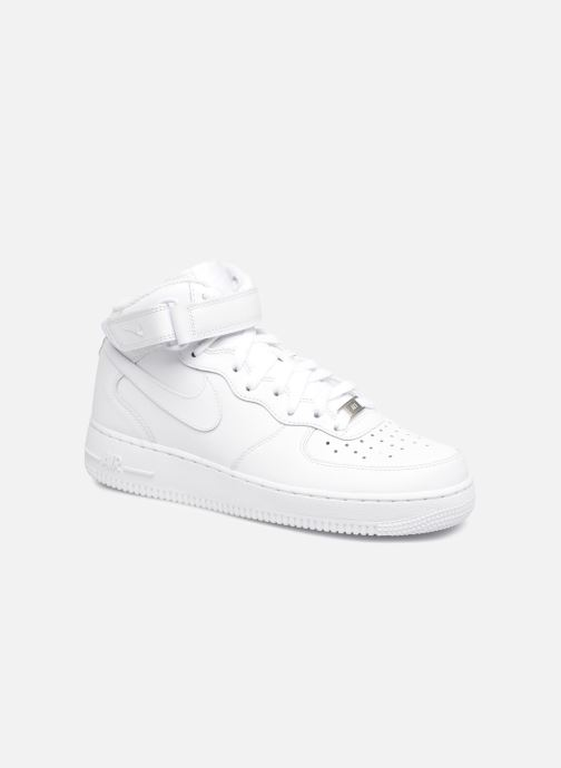 Baskets Nike Air Force 1 Mid Blanc vue détail/paire