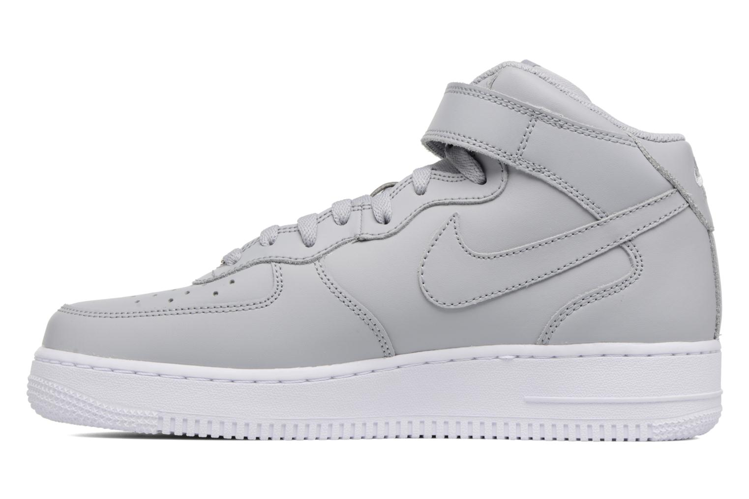 Deportivas Nike Air Force 1 Mid Gris vista de frente