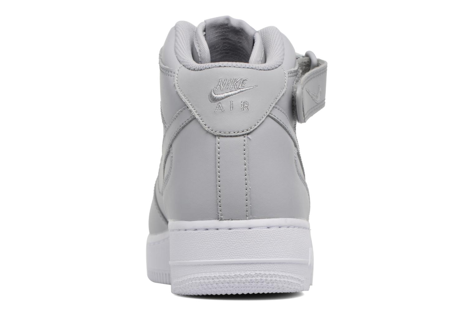 Deportivas Nike Air Force 1 Mid Gris vista lateral derecha