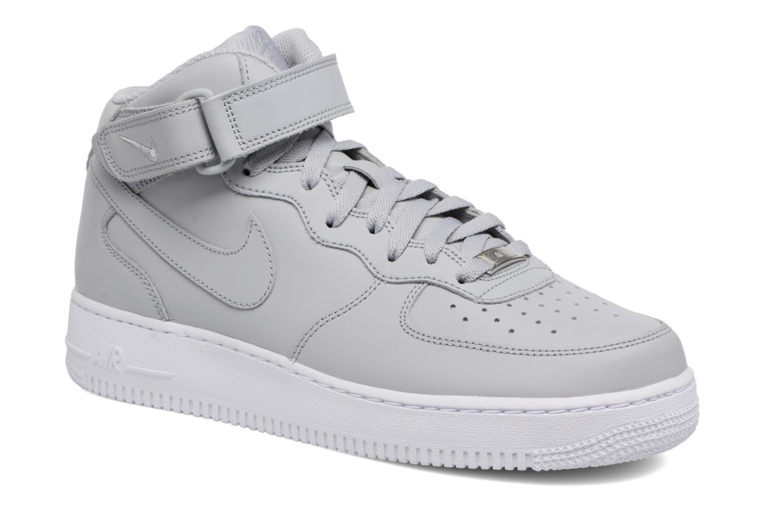 Trainers Nike Air Force 1 Mid Grey detailed view/ Pair view