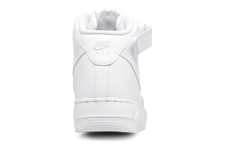 Baskets Nike Air Force 1 Mid Blanc vue droite