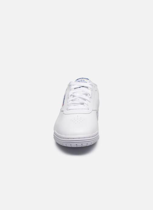 Baskets Reebok Exofit Lo Clean Logo Int Blanc vue portées chaussures