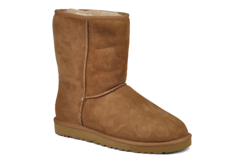 Bottines et boots UGG Classic Short M Beige vue détail/paire