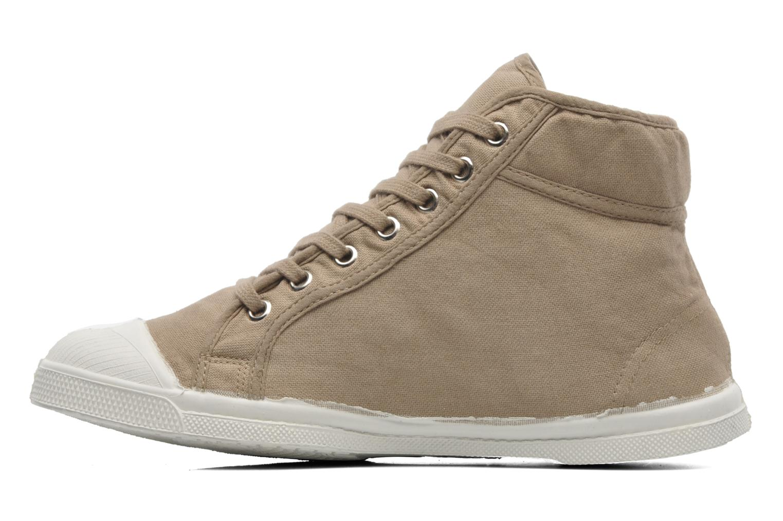 Baskets Bensimon Tennis Mid H Beige vue face